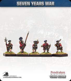 10mm Seven Years War: British Scots Advancing