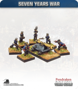 10mm Seven Years War: British 9pdr Fortress/Naval Gun with Crew