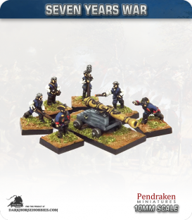 10mm Seven Years War: British 12pdr Fortress/Naval Gun with Crew