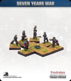 "10mm Seven Years War: British Coehorn 2.5"" Grenade Mortar with Crew (4)"