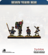 10mm Seven Years War: French Tricorn Foot - Marching (no turnbacks)