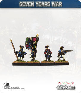 10mm Seven Years War: French Tricorn Foot - Firing (no turnbacks)