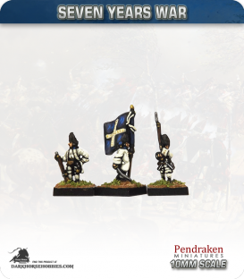 10mm Seven Years War: French Grenadier Foot - March Attack (no turnbacks)