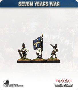 10mm Seven Years War: French Grenadier Foot - Marching