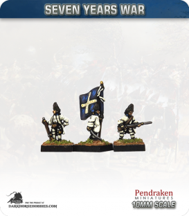 10mm Seven Years War: French Grenadier Foot - Advancing (no turnbacks)