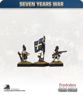 10mm Seven Years War: French Grenadier Foot - Firing