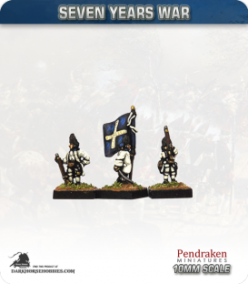 10mm Seven Years War: French Grenadier Foot - Port Fire