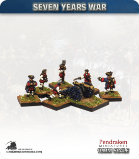 10mm Seven Years War: French 3pdr Gun with Crew