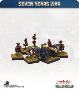 10mm Seven Years War: French 9pdr Gun with Limber, Horses and Crew