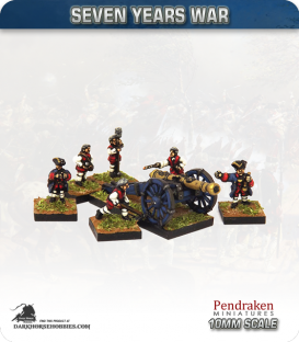 10mm Seven Years War: French 12pdr Gun with Limber, Horses and Crew