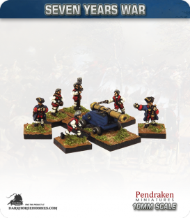 10mm Seven Years War: French 9pdr Fortress/Naval Gun with Crew
