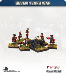 10mm Seven Years War: French 5.5in Howitzer with Limber, Horses and Crew