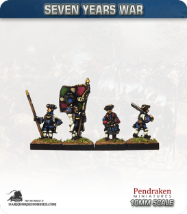 10mm Seven Years War: French Tricorn Foot - March Attack (in turnbacks)