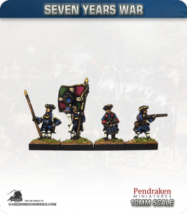 10mm Seven Years War: French Tricorn Foot - Firing (in turnbacks)