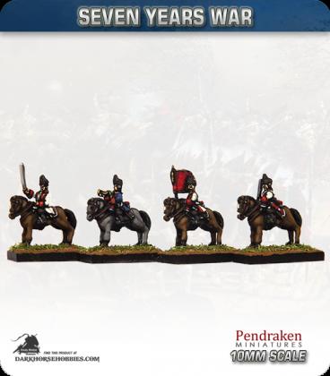 10mm Seven Years War: French Heavy Cavalry in Bearskin
