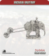 10mm Indian Mutiny: British Elephant with Siege Gun Limber