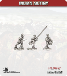 10mm Indian Mutiny: Mutineers - Ex-Company Command in Civilian Dress