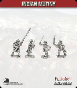10mm Indian Mutiny: Mutineers - Ghazi Muslim Fighters