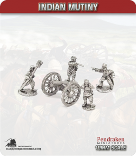 10mm Indian Mutiny: Mutineers - 12pdr Howitzers with Crew