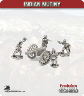 10mm Indian Mutiny: Mutineers - 18pdr Field Guns with Crew