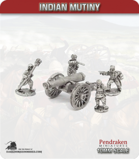 10mm Indian Mutiny: Mutineers - 24pdr Seige Guns with Crew