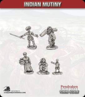 10mm Indian Mutiny: Mutineers - Indian Civilians