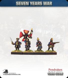 10mm Seven Years War: Prussian Fusilier Foot - Firing