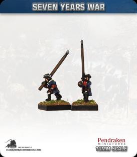 10mm Seven Years War: Generic Standard Bearers