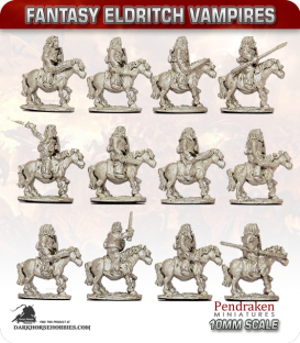 10mm Fantasy Eldritch Vampires: Mounted Thralls