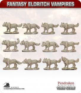 10mm Fantasy Eldritch Vampires: Dire Wolves