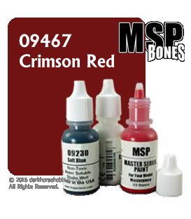 Master Series Paint: Bones Colors - 09467 Crimson Red (1/2 oz)