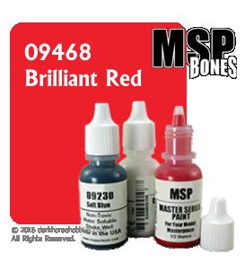 Master Series Paint: Bones Colors - 09468 Brilliant Red (1/2 oz)