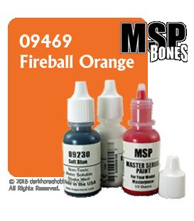 Master Series Paint: Bones Colors - 09469 Fireball Orange (1/2 oz)