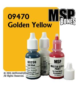 Master Series Paint: Bones Colors - 09470 Golden Yellow (1/2 oz)
