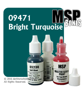 Master Series Paint: Bones Colors - 09471 Bright Turquoise (1/2 oz)