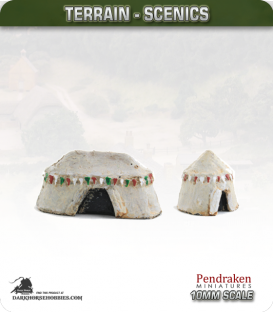 Terrain Scenics (10mm): Medieval Tents Pack