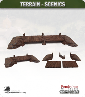 Terrain Scenics (10mm): Wooden Bridge
