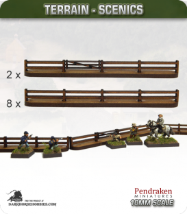 Terrain Scenics (10mm): Wooden Fencing Pack