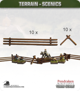 Terrain Scenics (10mm): Snake Rail Fencing Pack
