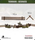 Terrain Scenics (10mm): Snake Rail Fencing Pack