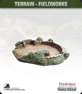 Terrain Fieldworks (10mm): Artillery or Tank Revetment
