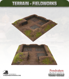 Terrain Fieldworks (10mm): 3 Gun Emplacement (16-19th century)