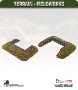 Terrain Fieldworks (10mm): Dugout (with wooden logs)
