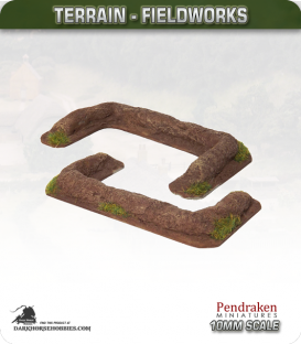Terrain Fieldworks (10mm): Earthen Rampart (small)