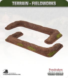 Terrain Fieldworks (10mm): Earthen Rampart (large)