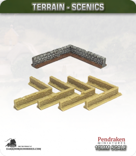 Terrain Scenics (10mm): Stone Walls (corners)