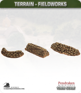 Terrain Fieldworks (10mm): Sandbag Barricades
