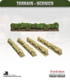 Terrain Scenics (10mm): Hedges (straight)