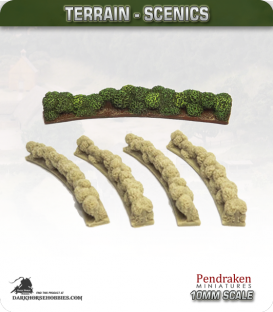 Terrain Scenics (10mm): Hedges (curved)