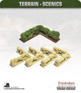 Terrain Scenics (10mm): Hedges (corners)